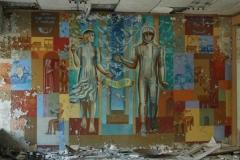 Mural w budynku poczty w Prypeci.