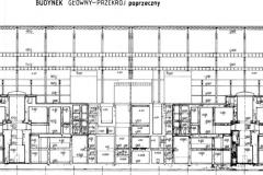 Budynek Główny - przekrój poprzeczny