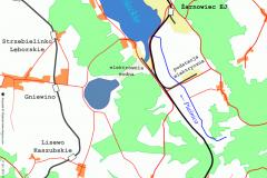 Mapa linii kolejowej 230 i 230A / Krzysztof M. Różański www.drezyny.com